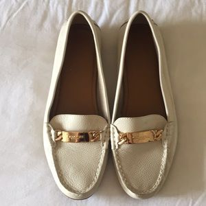 Coach Leather Loafers in Ivory - 7.5B